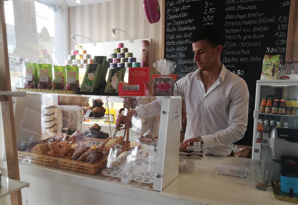Die französische Bäckerei La Flamm habe ich in einer Seitengasse der Hauptstraße in Heidelberg gefunden.