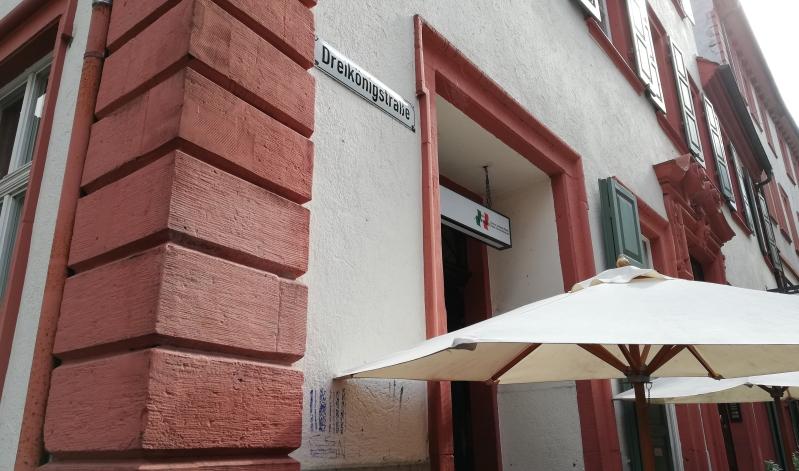 Die Osteria Alfredo in der Dreikönigstraße in Heidelberg.